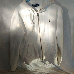 Polo cotton zip hoodie